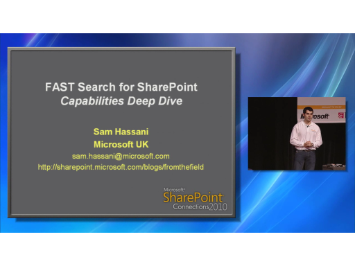 FAST Search for SharePoint 2010: Capabilities Deep Dive