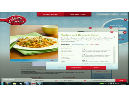 Windows 7 & General Mills bring the future to your kitchen