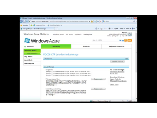 "Windows Azure Platform Training Kit Screencast - ""Deploying and Monitoring Applications"""