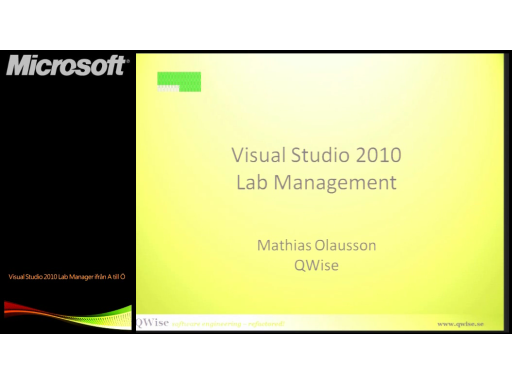 Visual Studio Lab Manager ifrån A till Ö - Visual Studio Lab Managment (2/3)