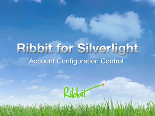 Ribbit for Silverlight - Account Configuration Control