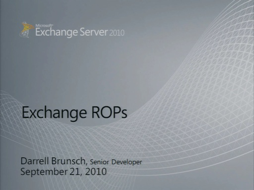 Exchange ROPS