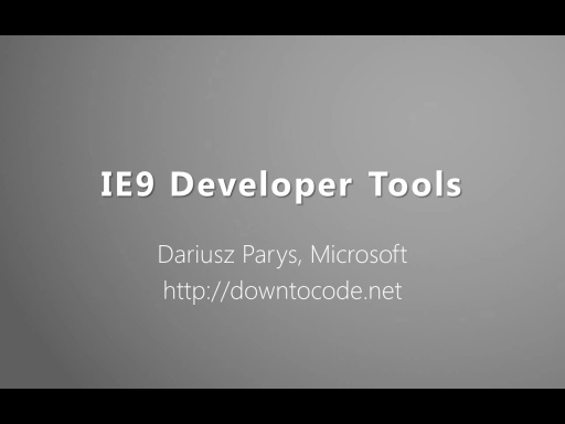 IE9 Developer Tools
