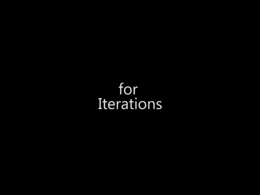 for Iterations - Day 1 - Part 14