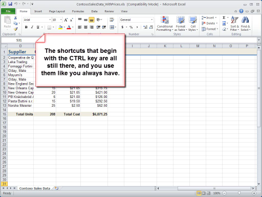 Excel 2010: Keyboard Shortcuts in Two and a Half Minutes