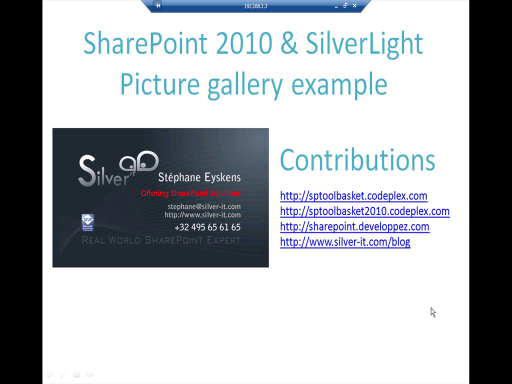 Silverlight and SharePoint 2010: Picture gallery sample using the client object model