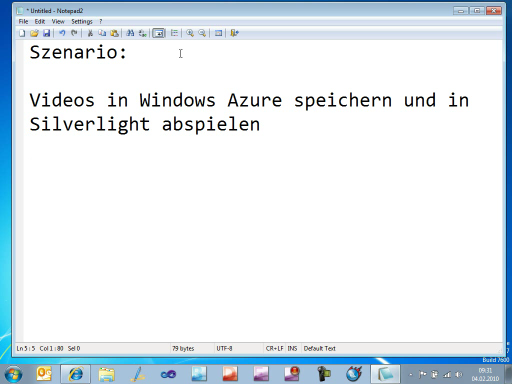 Videos auf Windows Azure Hosten und in Silverlight wiedergeben