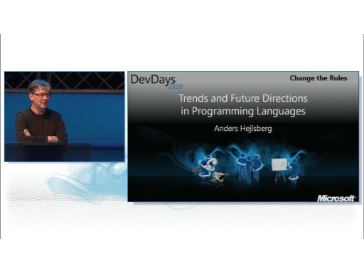 Anders Hejlsberg Trends and Future Directions in Programming Languages (DevDays 2010 Keynote)