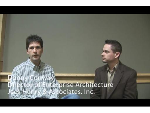 Jared Bienz talks with Jack Henry & Associates, Inc. at a recent Microsoft event