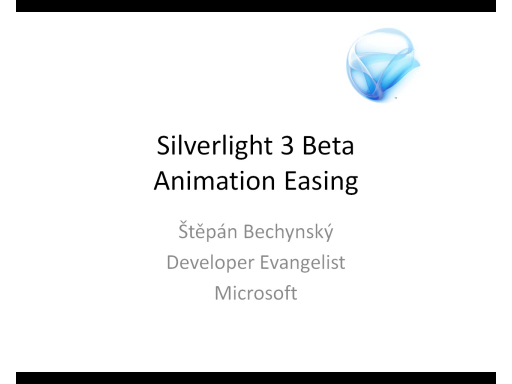 Silverlight 3 Animation Easing (CZ)