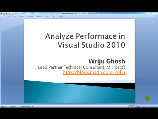 CPU Sampling using Visual Studio 2010 Performance Analyzer Tool