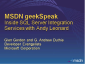 geekSpeak Recording - Inside SQL Server Integration Services with Andy Leonard