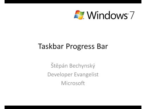 Windows 7 - Taskbar Progress Bar (CZ)