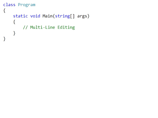 VS 2010 Quick Hit: Multi-Line Editing