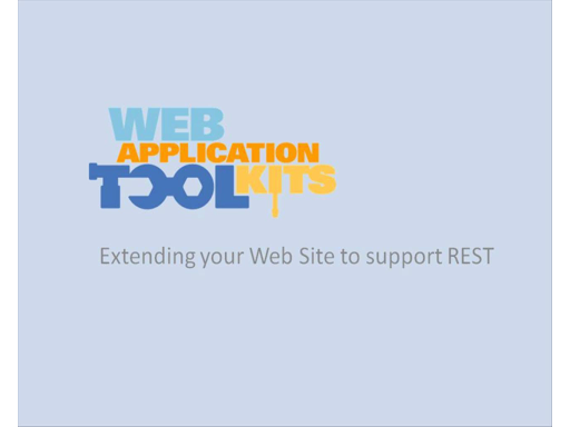 Web Application Toolkit: REST Services