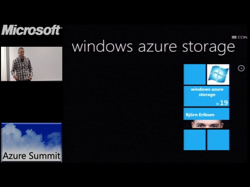 Azure Summit - Windows Azure Storage