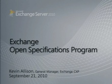 Exchange Server Open Specifications Program