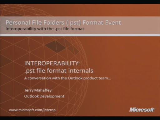 MS-PST Binary File Format Presentation
