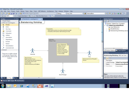 UML with VS 2010 Part 1: Brainstorming a Project