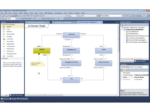 UML with VS 2010 Part 3: Modeling the Business Domain