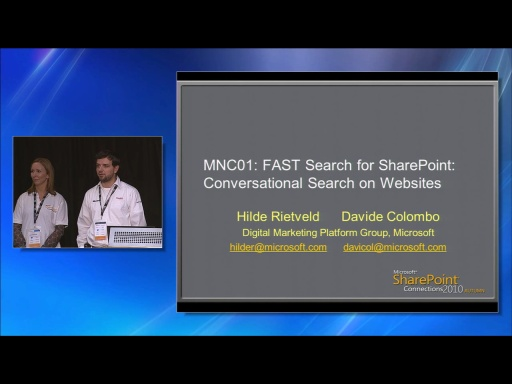 FAST Search for SharePoint: Conversational Search on Websites