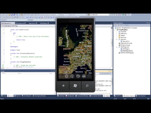 New! Windows Phone 7 Jump Start (Session 16 of 19): Location and Bing Maps