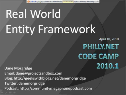 Real World Entity Framework