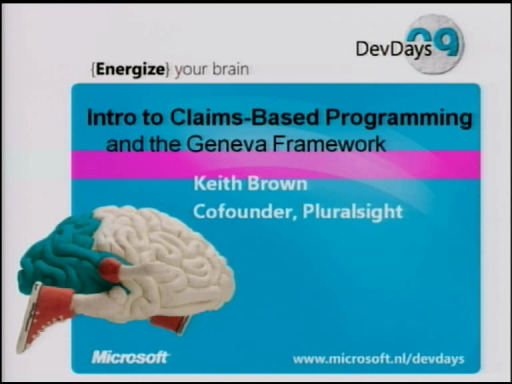 Introduction to Claims-Based Programming and the Geneva Framework