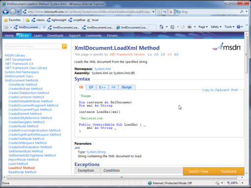 New MSDN Library views