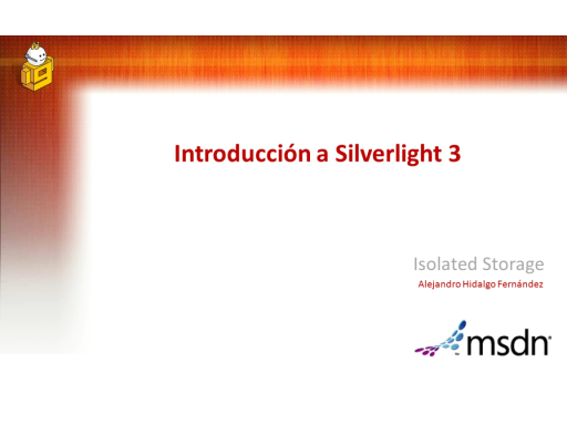 Isolated Storage en Silverlight