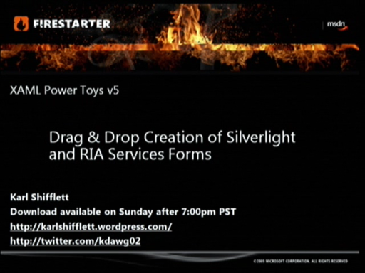 Silverlight FireStarter (Part 8 of 9): Building Silverlight UIs with XAML Power toys