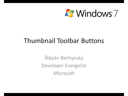 Windows 7 - Thumbnail Toolbar Buttons (CZ)