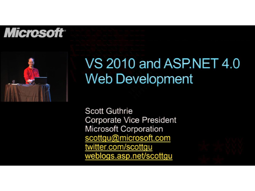 Visual Studio 2010 and .NET Framework 4.0 for web developers, part 1 of 2