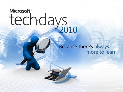 TechDays 2010 : Introducing the Windows Phone 7 Series developer experience