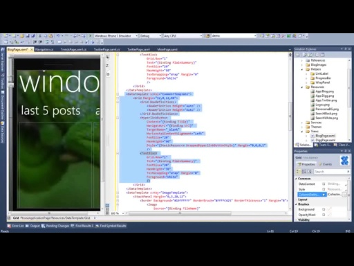 New! Windows Phone 7 Jump Start (Session 13 of 19): Panorama and Pivots