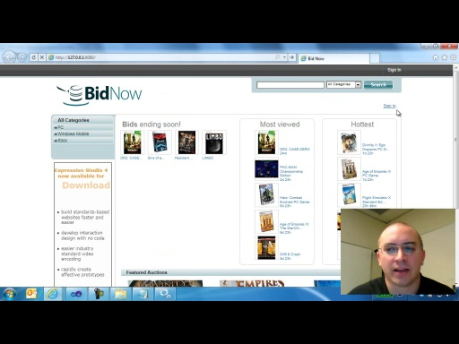 Setting Up the BidNow Sample Application for Windows Azure