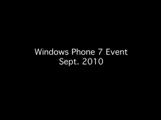 Windows Phone 7 Event B-Roll