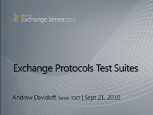 Exchange Protocols Test Suites