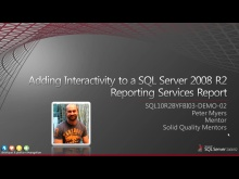 Demo: Adding interactivity to a SQL Server 2008 R2 Reporting Services Report