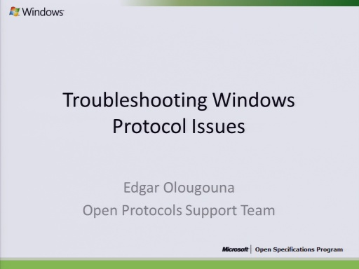 Troubleshooting Windows Issues 2010