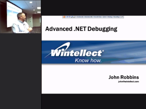 Techniques in Advanced .NET Debugging with John Robbins (Part 1 of 3)