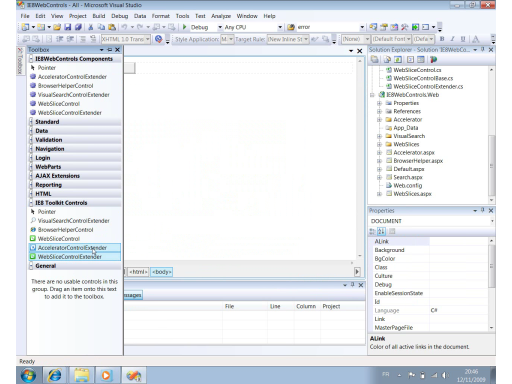 Web Application Toolkit IE8 Partie 2