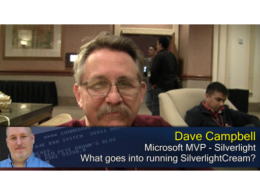 Pete at MIX10: Dave Campbell on Silverlight Cream