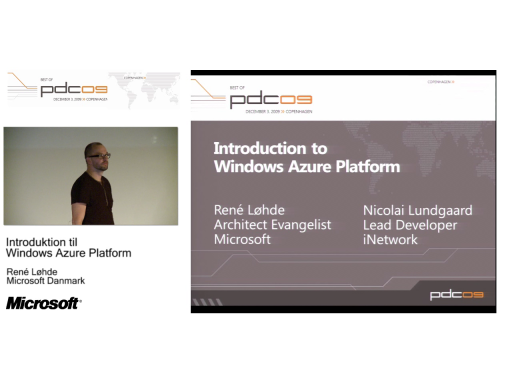 DKPDC09 Session 3 - Introduktion til Windows Azure Platform