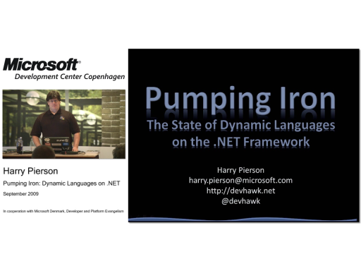 Pumping Iron: Dynamic Languages on .NET