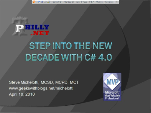 Step into the New Decade with C# 4.0
