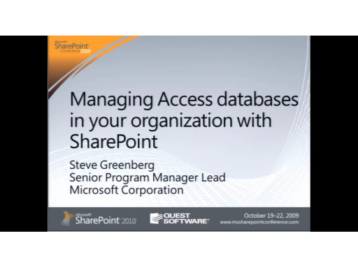 The Access Show: Managing Access Databases with SharePoint
