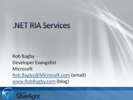 .NET RIA Services in 5 Minutes