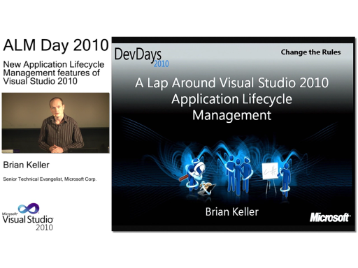ALMday session 1 - New Application Lifecycle Management features of Visual Studio 2010