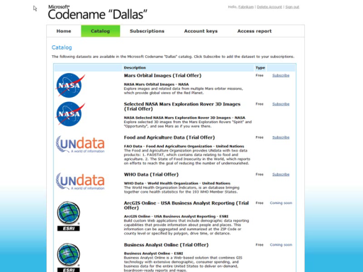 "Fabrikam Jets - Integrating Codename ""Dallas"" with AppFabric Access Control"